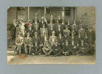 Postcard, group photograph - 1913 Australian Swimming Championships