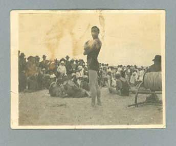 Photograph of Les Duff, Australian Championships Hobart c1921