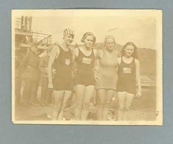 Photograph of United States female swim team, 1920 Olympic Games