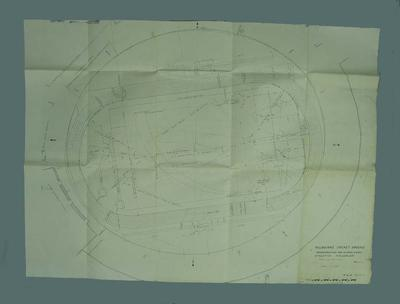 Plan - MCG Reconstruction for Olympic Games Athletics Field Plan, dated 18/11/54