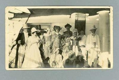 Photograph of fancy dress ball on board Ormonde, en route to 1924 Olympic Games; Photography; 1985.2.98