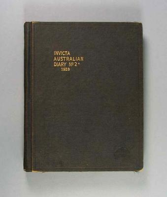Diary, kept by Harry Morris during 1928 Olympic Games