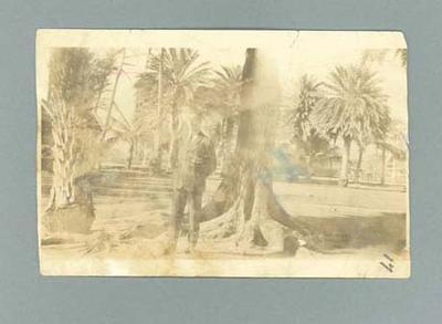 Photograph of Ivan Stedman at Waikiki Beach, May 1921
