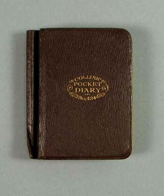 Diary, kept by Harry Morris c1928