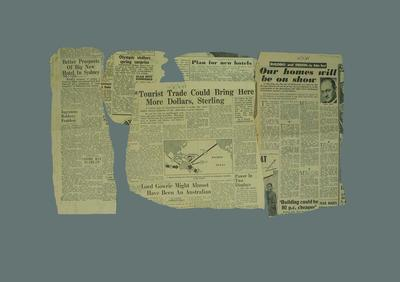 Newspaper clippings related to 1956 Olympic Games; Documents and books; 1987.1627.258.32