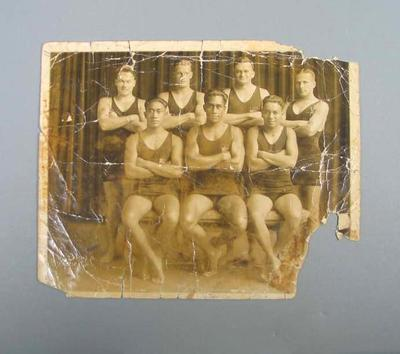 Photograph of United States swim team representatives from Hawaii, 1920 Olympic Games
