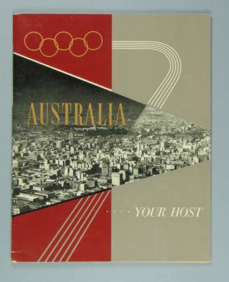 """Book, """"Australia...Your Host""""; Documents and books; 1986.1044.8"""