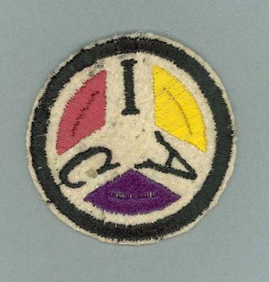 Cloth badge, Illinois Athletic Club
