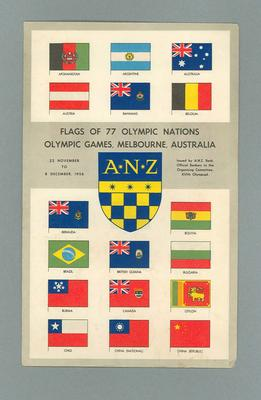 Flags of the 1956 Olympic Games; Documents and books; 1986.300.2