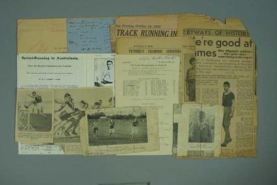 Newspaper clippings relating to athletic career of George A Moir; Documents and books; Documents and books; 1987.1627.261