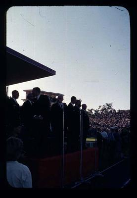 Transparency - 'HRH Saluting Dais' taken by W. Ager at 1962 BE & CG, Perth