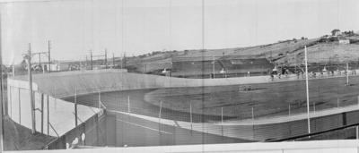 Copy negative featuring part of  North Essendon Board Track