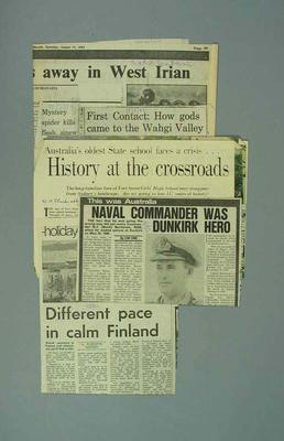 Newspaper clippings of tourist information for Australia and overseas destinations; Documents and books; 1987.1627.275