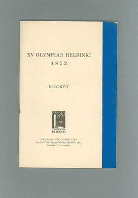 Programme for 1952 Olympic Games hockey events