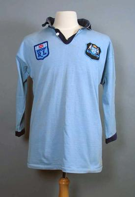"""Jersey - Rugby League State of Origin stamped 'Ettingshausen, 1"""" with signatures; Clothing or accessories; 2006.4515"""