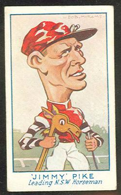 1933 Carreras (Turf) Personality Series Jimmy Pike trade card