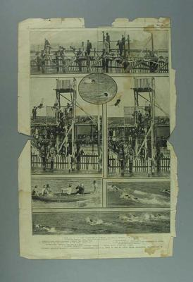 """Newspaper clipping, """"Victorian Amateur Swimming Association's Championship Carnival"""" - The Australasian, 26 Feb 1921"""