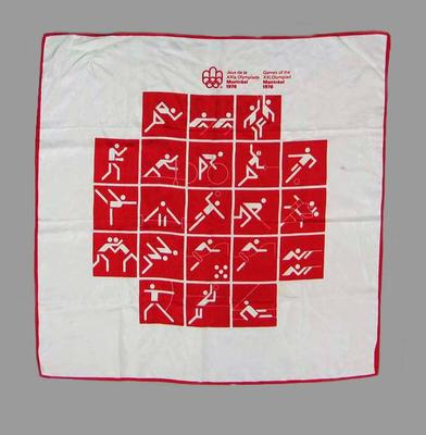 Souvenir Scarf - 1976 Montreal Olympic Games; Clothing or accessories; 2006.4507