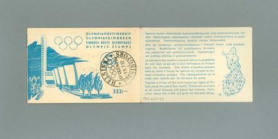 Stamps issued for 1952 Olympic Games