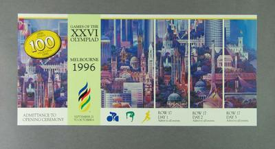 Invitation to 1996 Olympic Games decision dinner, 18 Sept 1990; Documents and books; 1990.2313.1
