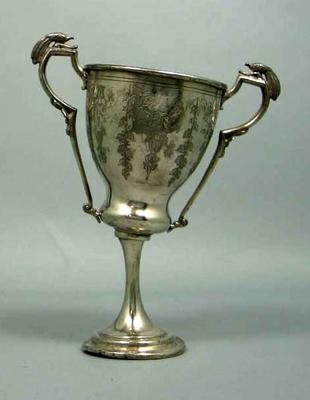 Trophy - Silver cup with two handles, associated with Ernie Milliken