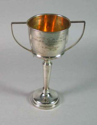 Trophy - 'F.T.G.A.C.C. 3 Miles Scratch Race (B Grade) winner E. Milliken