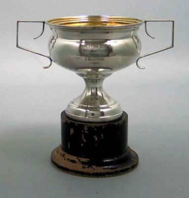 Trophy - 'Preston Star 40 Miles Handicap won by E. Milliken 1932'