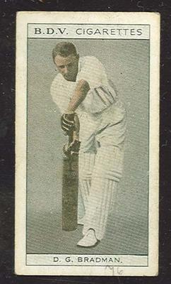 Trade card featuring Don Bradman c1930s; Documents and books; 1987.1801.1056