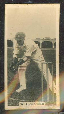 Trade card featuring William Oldfield c1930s