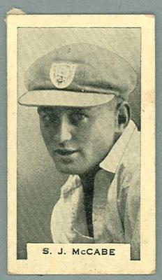 Trade card featuring Stan McCabe c1930s