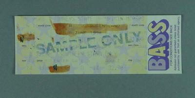 Sample ticket for 1994 State of Origin match at MCG, Southern Stand
