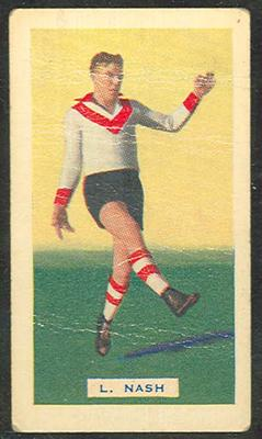 Trade card featuring Laurence Nash c1930s