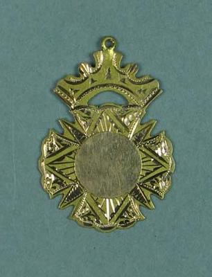 Gold medal presented to Lily Beaurepaire by the M.S. Club, 21st February 1911