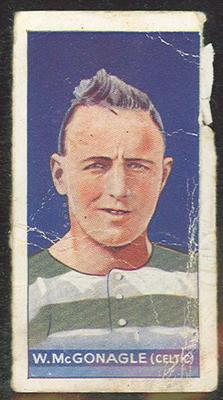 Trade card featuring W McGonagle c1930s