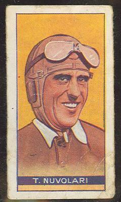Trade card featuring T Nuvolari c1930s
