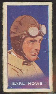 Trade card featuring Earl Howe c1930s