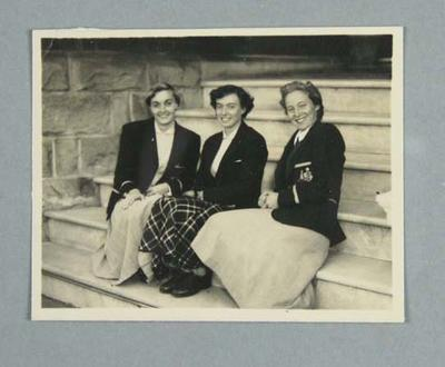 Photograph, depicts Winsome Cripps, Verna Johnston and Shirley Strickland - June 1952