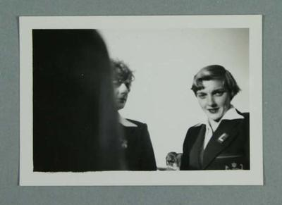 Photograph, depicts Winsome Cripps and Marjorie Jackson in 1952 Australian Olympic Games uniform