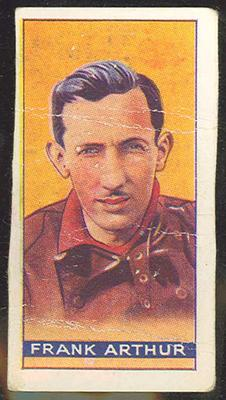 Trade card featuring Frank Arthur c1930s