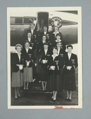 Photograph of Victorian team departing for Australian Women's Track and Field Championships, Perth - 1954