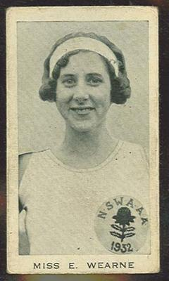 Trade card featuring Miss E Wearne c1930s