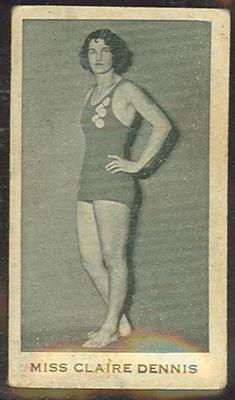 Trade card featuring Miss Claire Dennis c1930s