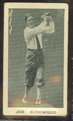 Trade card featuring Joe Kirkwood c1930s