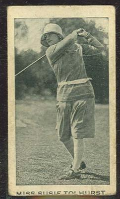 Trade card featuring Miss Susie Tolhurst, c1930s