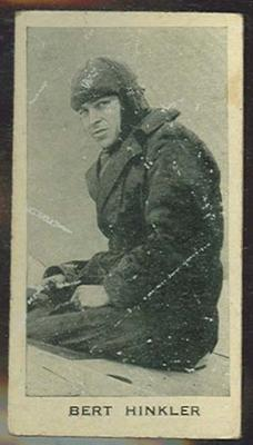 Trade card featuring Bert Hinkler c1930s