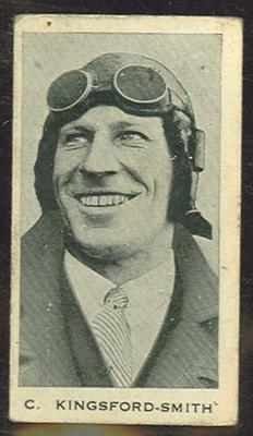 Trade card featuring Charles Kingsford-Smith c1930s