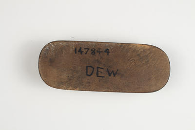 RAAF issue boot polish brush, used during WWII occupation of MCG