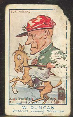 Trade card featuring William Duncan c1930s