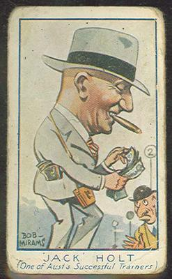Trade card featuring Jack Holt c1930s
