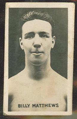 Trade card featuring Billy Matthews c1930s